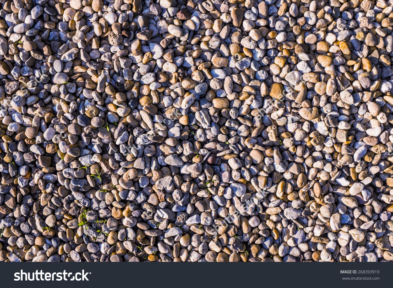 Pebbles Background River Sediment Stock Photo 268393919.