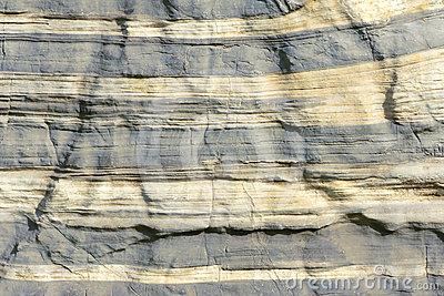 Sedimentary Rocks Stock Photo.