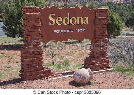 Stock Photographs of Sedona Arizona Welcome Sign csp13883096.
