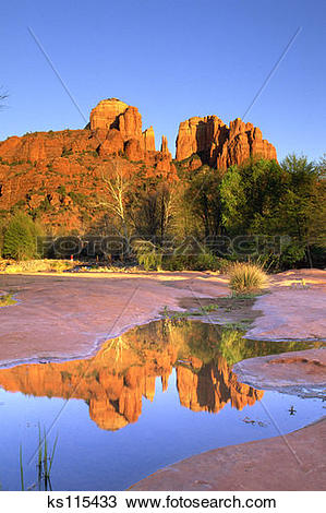 Stock Photo of Cathedral Rock at Red Rock Crossing, Oak Creek.