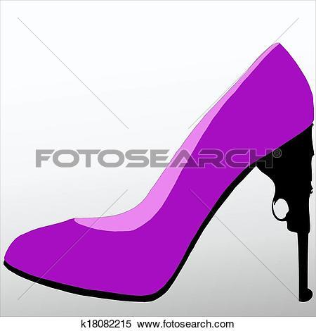 Clipart of A dangerous weapon of seduction k18082215.