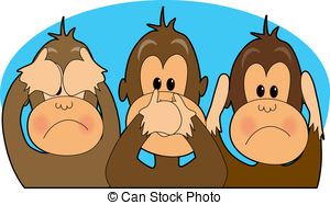 Hear no evil see no evil speak no evil Illustrations and.