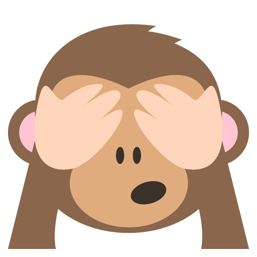 See No Evil Monkey Emoji Vector Icon.