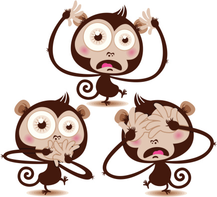 See no evil monkey clipart.