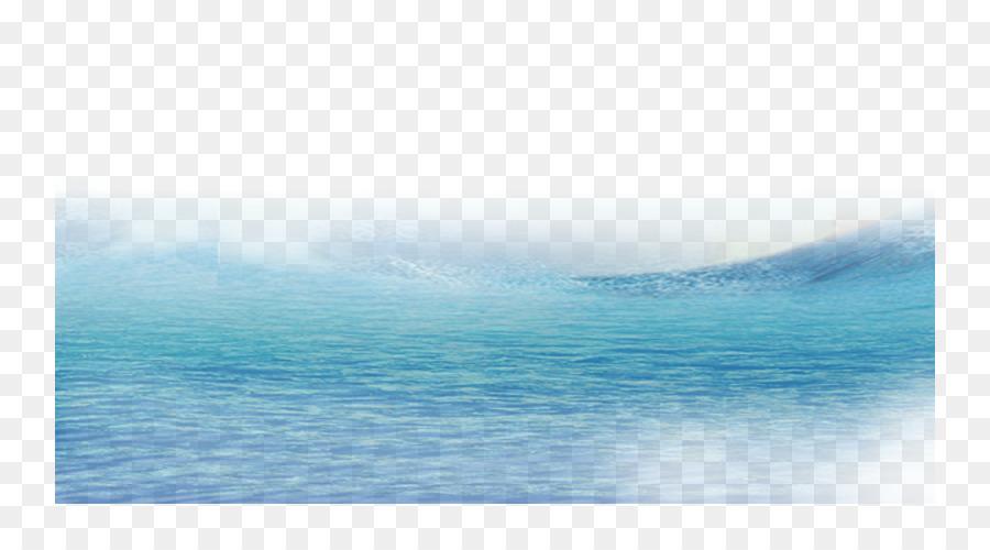 Wasser Ressourcen Blauer Himmel Meer Muster.
