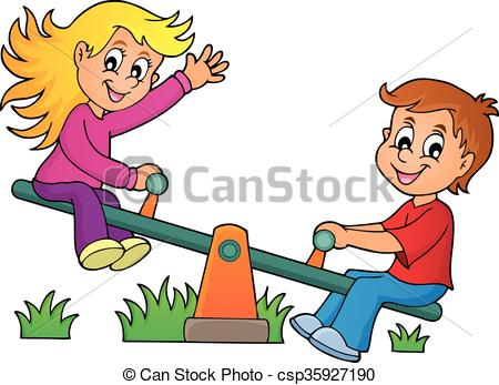 Seesaw Clipart Vector and Illustration. 836 Seesaw clip art vector.