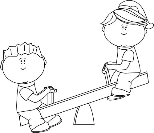 Seesaw clipart black and white 6 » Clipart Station.