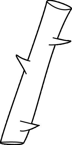 Black and White Thorn Clip Art.