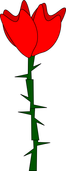 Rose thorn clipart.