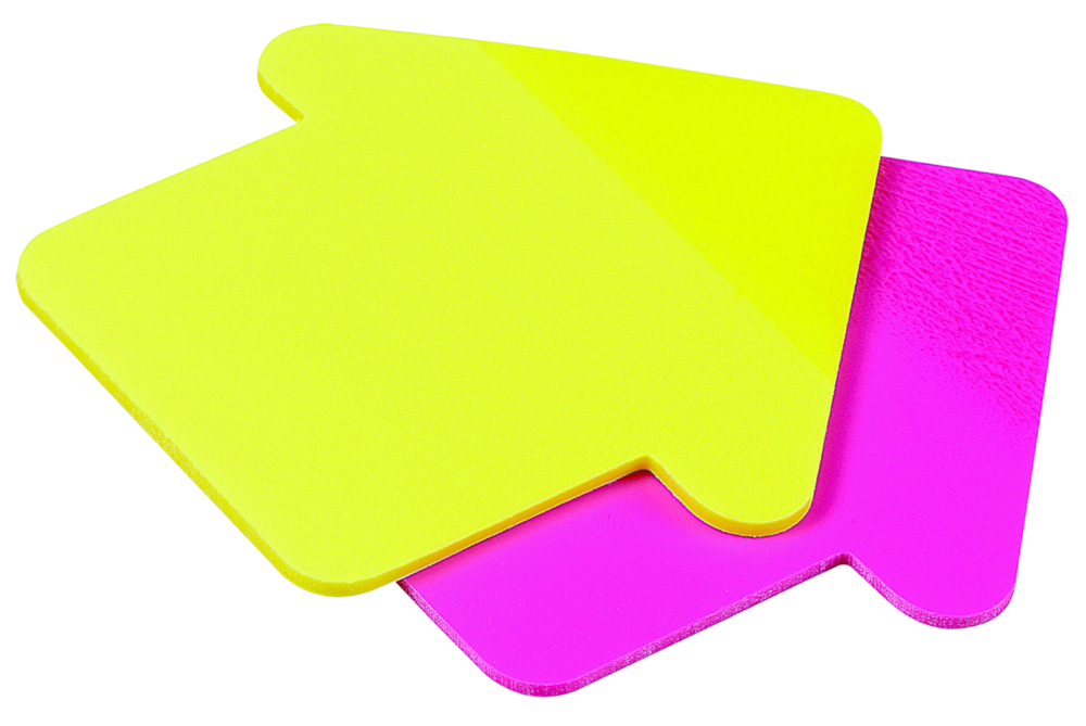 Avery see through sticky note pad clipart image #23856.