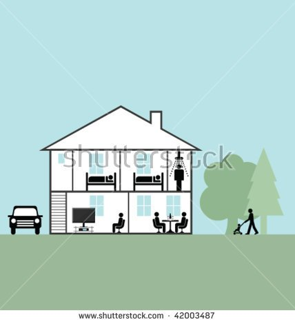 See Through House Clipart.