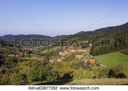 """Stock Photo of """"Seebach in the Achertal valley, Black Forest."""