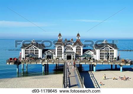 Stock Image of Pier in Sellin d93.