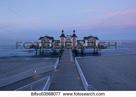 "Picture of ""Sellin Pier at the blue hour, Baltic Seaside Resort."