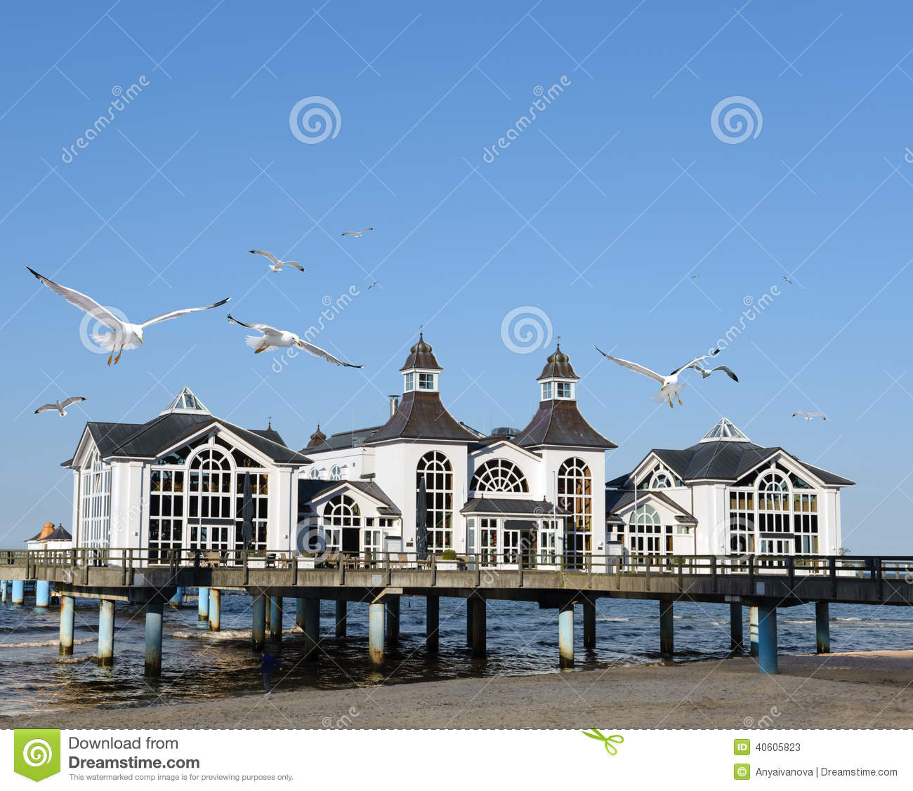 Seebrucke In Sellin On Island Rugen Stock Photo.