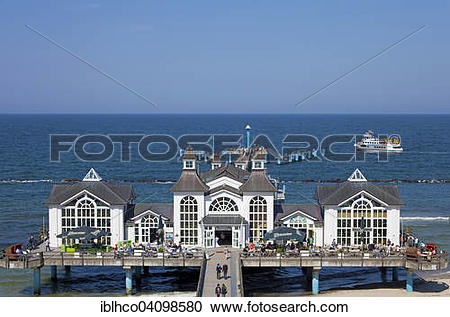 Stock Photography of Pier, Sellin, Rugen, Mecklenburg.