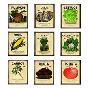 Garden Vegetable Seed Packets.