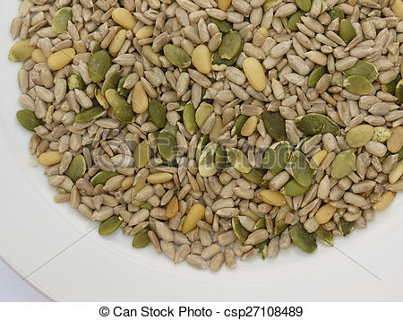 Pictures of Seed mix ready to eat.