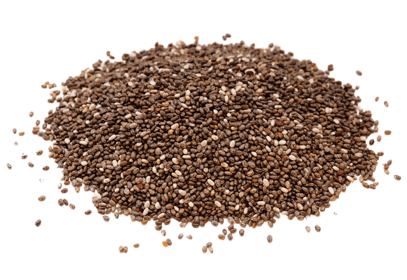 Pile Of Chia Seeds transparent PNG.