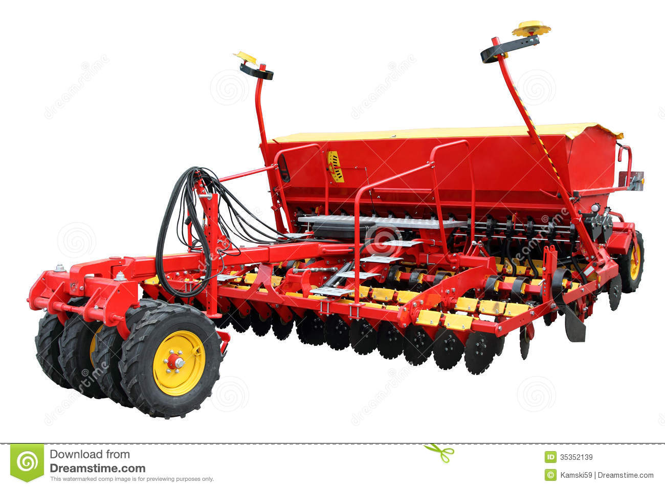 Red Modern Seeder Royalty Free Stock Images.