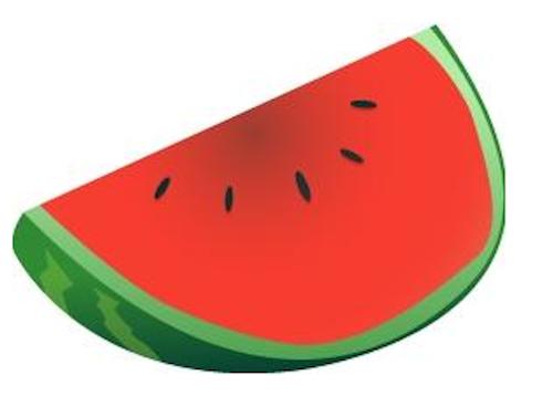 Seedless watermelon clipart.