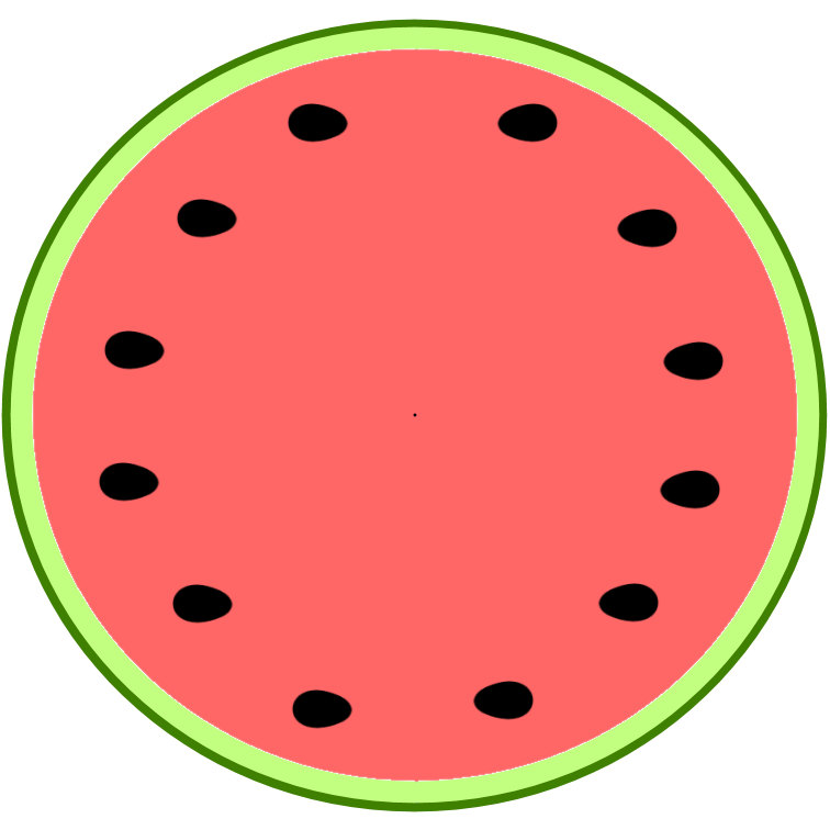 Seedless Watermelon Slice Clipart.