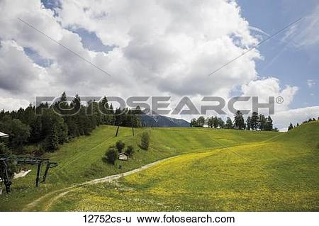 Stock Images of Austri, Tyrol, Seefeld, Birkenlift, Cable car.