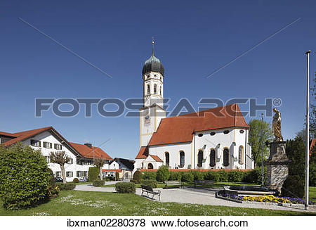 """Pictures of """"St. Peter and Paul Church in Oberalting, municipality."""