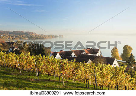 """Stock Photography of """"Schloss Maurach priory and the bay of."""