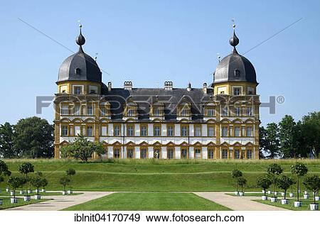 Stock Photograph of Seehof Castle or Schloss Seehof, Memmelsdorf.
