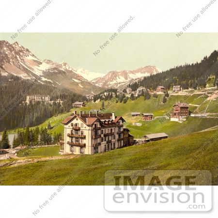 Picture of the Seehof Hotel, Arosa, Grisons, Switzerland.