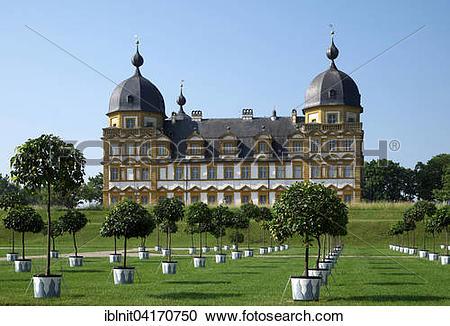 Stock Photography of Seehof Castle or Schloss Seehof, Memmelsdorf.