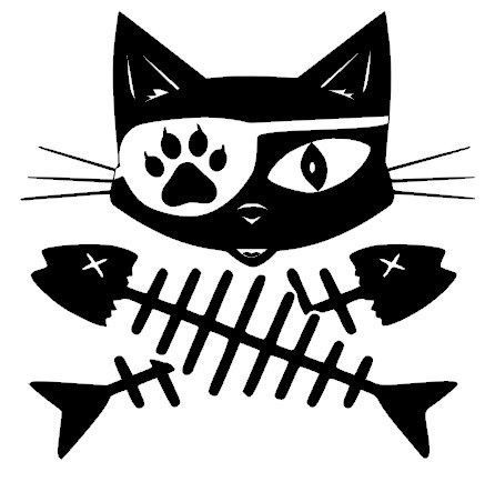 Image result for cat pirate flag.