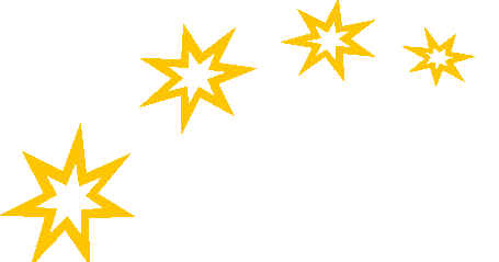 Seeing stars clipart.