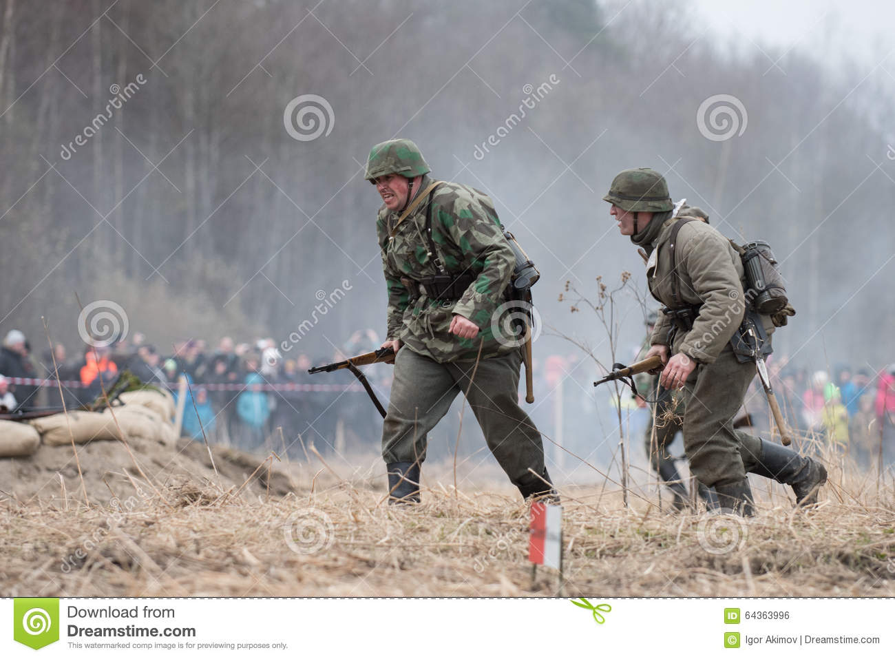 Reconstruction Of Battle For The Seelow Heights Editorial Photo.