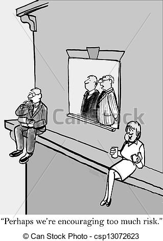 Clip Art of Brokers seem to take too much risk.