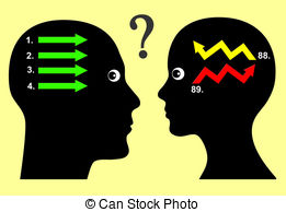 Clip Art of Different Way of Thought.