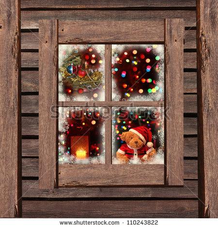 Window clipart christmas lights.