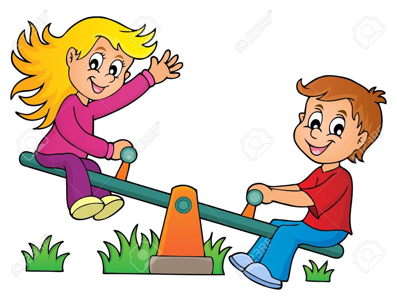 Children on seesaw theme image 1 » Clipart Station.