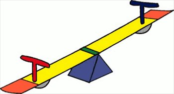 Free seesaw Clipart.