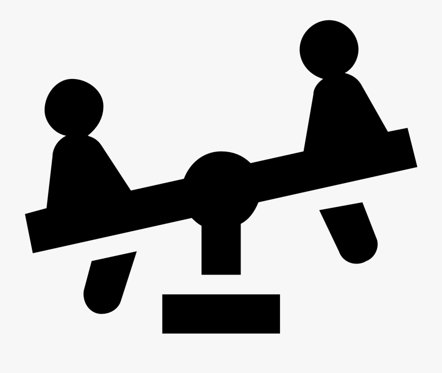 Center Of Gravity Seesaw , Free Transparent Clipart.
