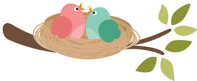 Vogel Im Nest Clipart.