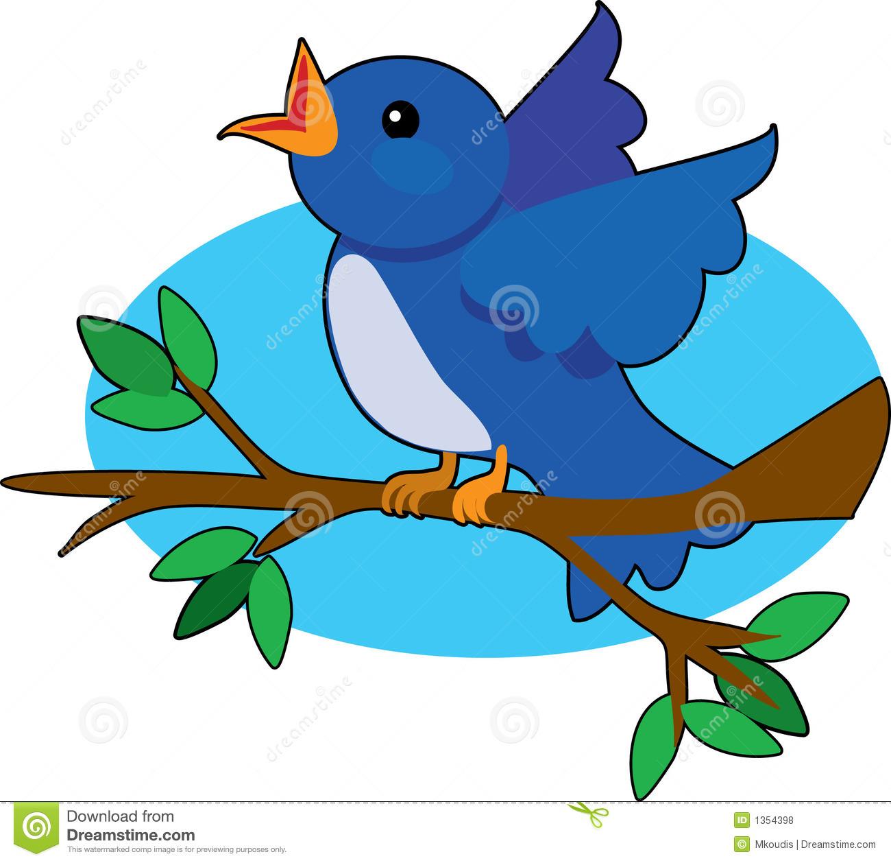 Blue Bird Royalty Free Stock Photos.