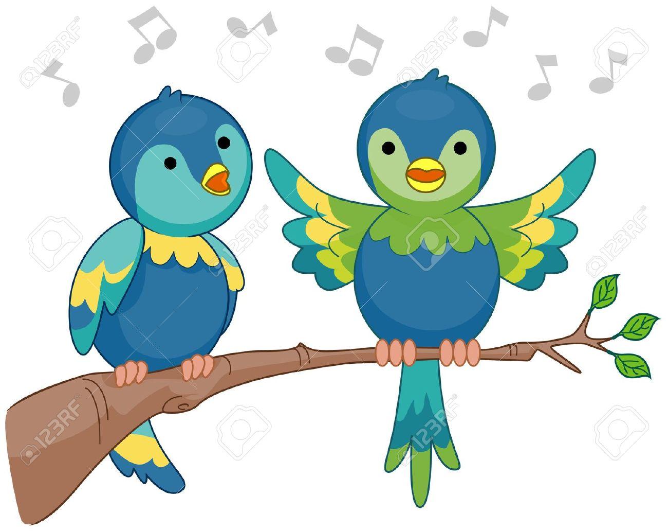 Singende vögel clipart.
