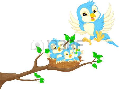Vögel Im Nest Clipart.