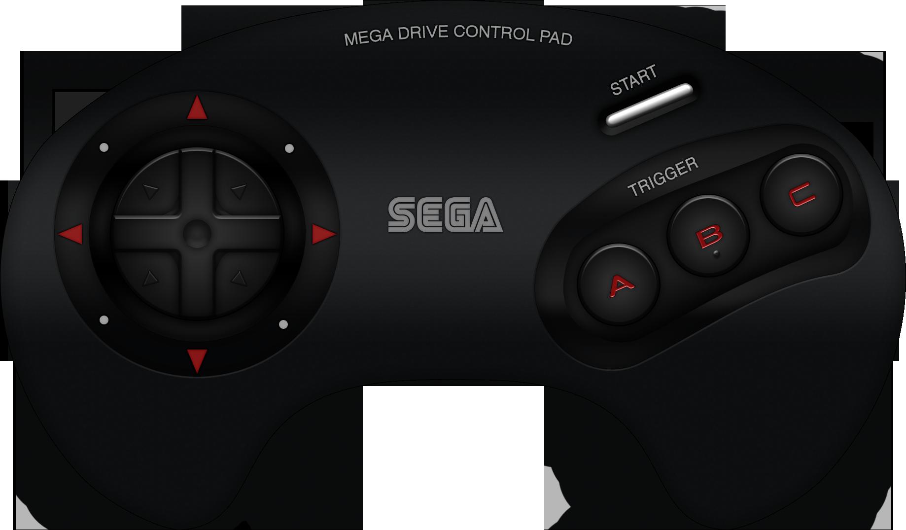 Sega Mega Drive Button Controller By Blueamnesiac D B H J.