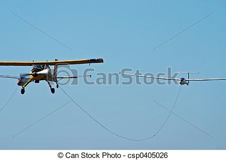 Stock Bild von Sport, schleppen, flugzeug, segelflug.