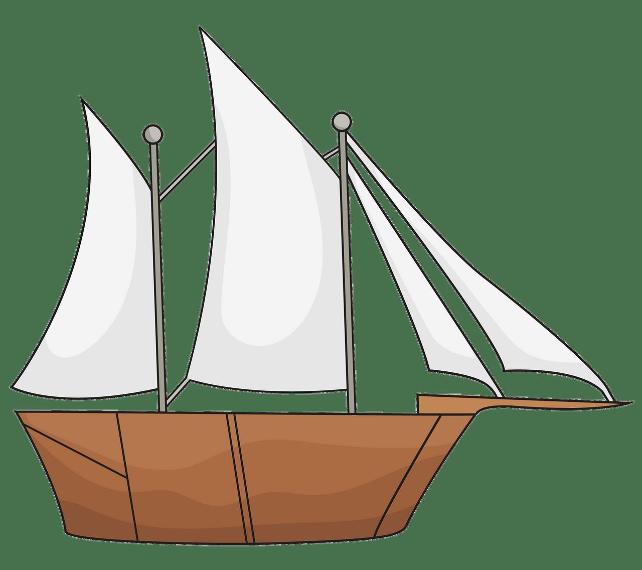 Segelschiff clipart. Kostenloser Download..