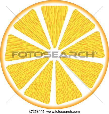 Clipart of Orange segment k7258445.