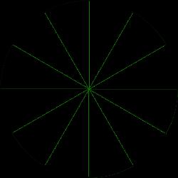 12 Segment Circle Clipart Graphic.